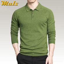 8 cores dos homens polos estilo simples algodão malha manga comprida pullovers tamanho grande 3xl 4xl primavera outono muls marca ms16005