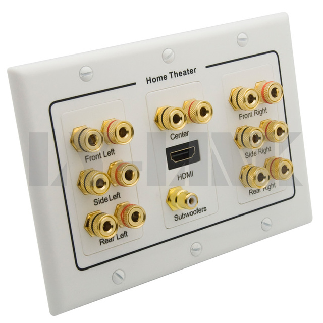 home theater wall plate. home theater 7.1 surround sound speaker box wall plate + hdmi audio banana o