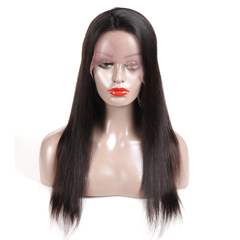 Satai Glueless Lace Front Human Hair Wigs Malaysian Straight Remy Hair Wigs For Women Bleached Knots