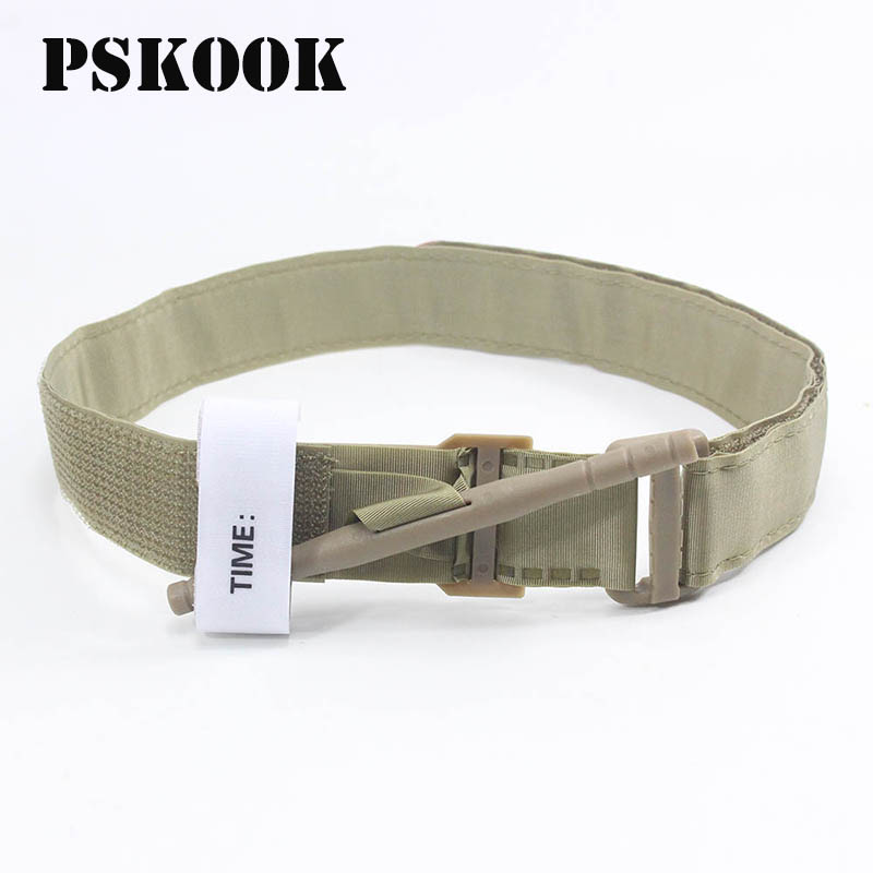 PSKOOK One-handed Portable Combat First Aid Quick Slow Release Buckle Medical Military Tactical Emergency Tourniquet Straps