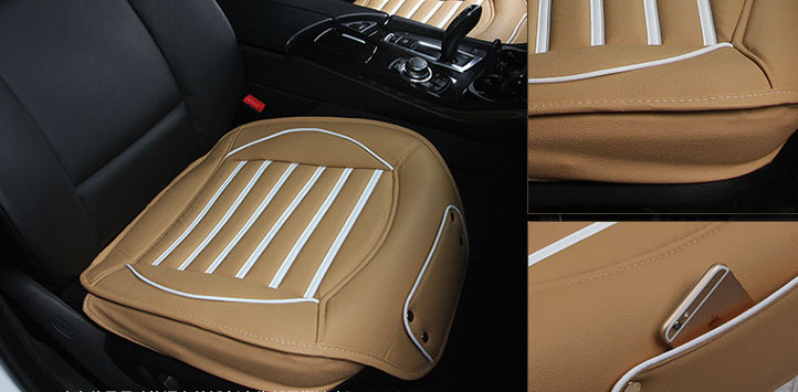 New PU Leather Car Chair Mat Pad cover for Auto Seat Cushion Sell like hot cakes new european top grade embroidery cushion sell like hot cakes four seasons pleuche gm direct manufacturers in the cushion