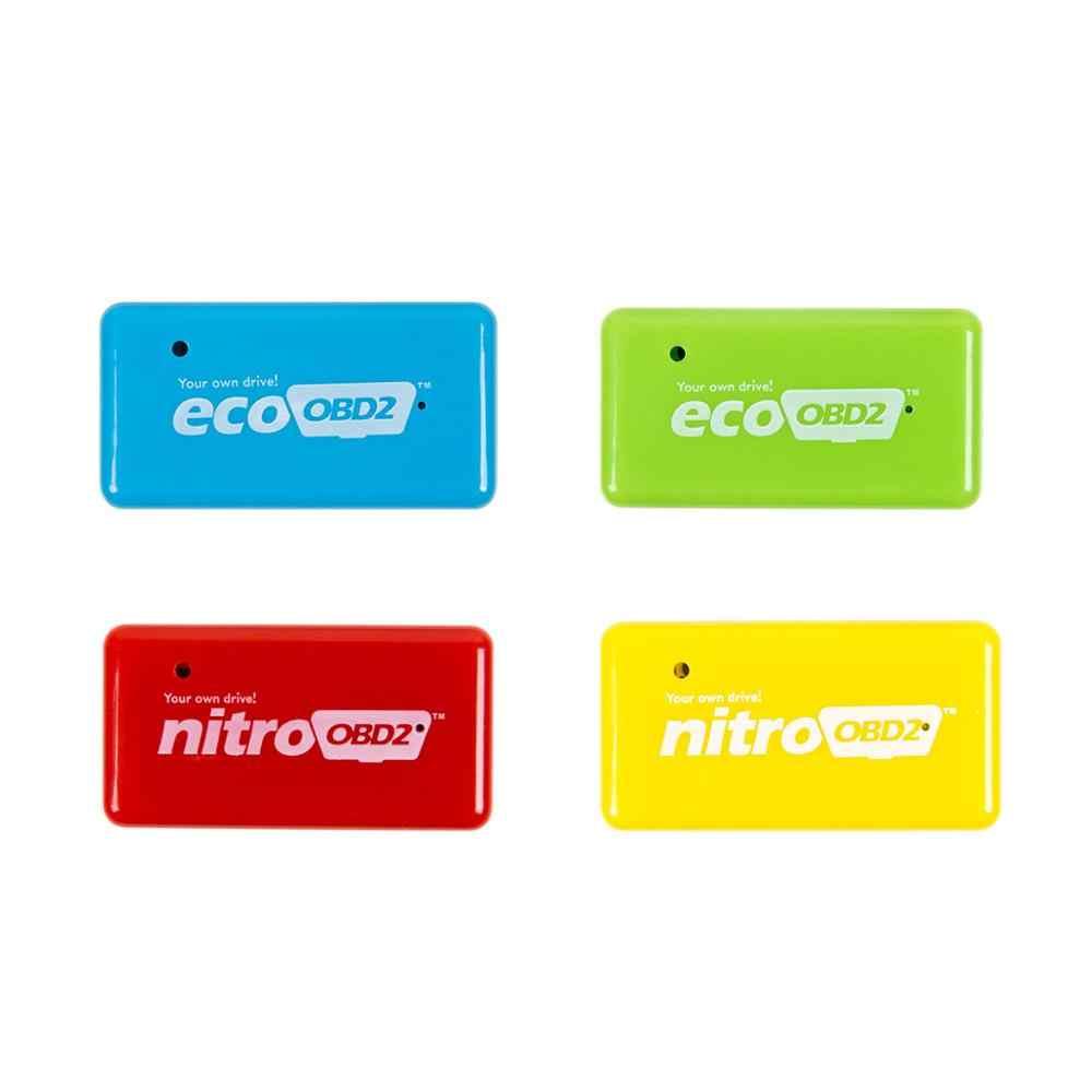 3 ColorsNitro OBD2 EcoOBD2 ECU puce Tuning Box Plug & Driver NitroOBD2 Eco OBD2 pour Benzine Diesel voiture 15% carburant économiser plus de puissance