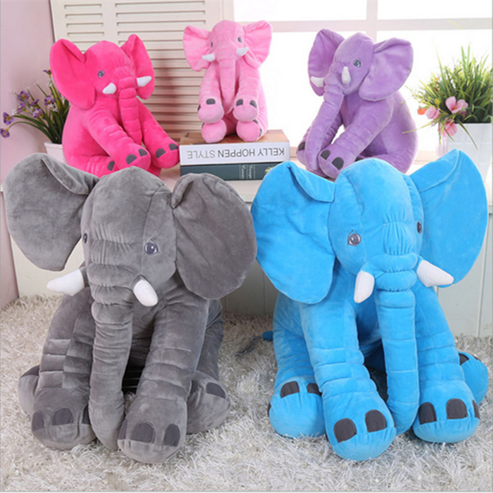 Large Plush Elephant Toy Plush Soft Toy Stuffed Animal Elephant Pillow For Baby & Kids Sleeping Toys For Childre Baby Calm Doll 1pcs 60cm ins elephant soft pillows baby sleeping pillow stuffed elephant comforter plush animal cushion best gift for kids