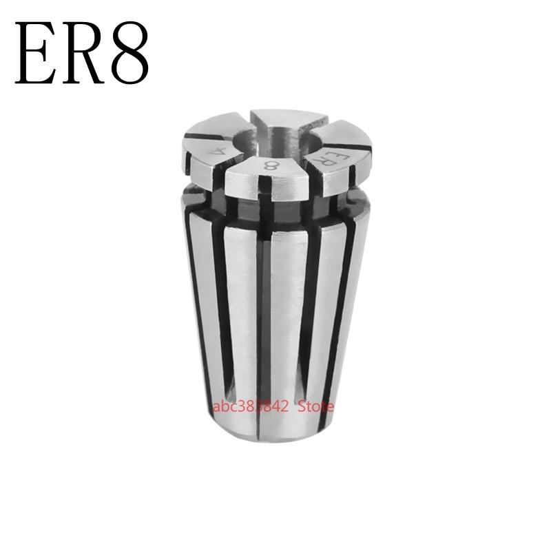 Купить с кэшбэком Precision 0.015mm elastic chuck barrel clamp verbose engraving machine motor spindle CNC machine tool barrel clamp ER8 chuck ER8
