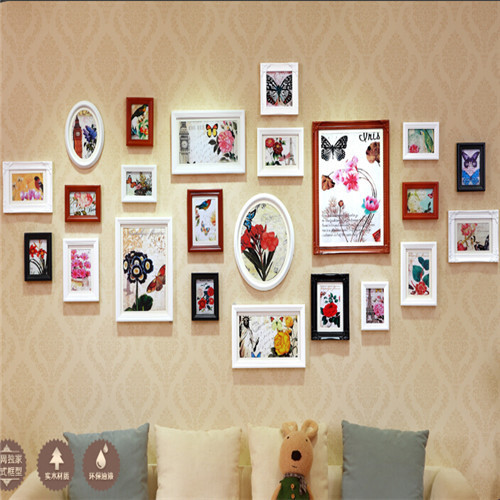 Hot Sale Photo Frames For Picture 23 Pcsset Thick Pine Wood Photo