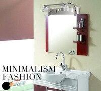 Lámpara de pared de espejo de cristal de acero inoxidable de 6 w lámparas de baño impermeables