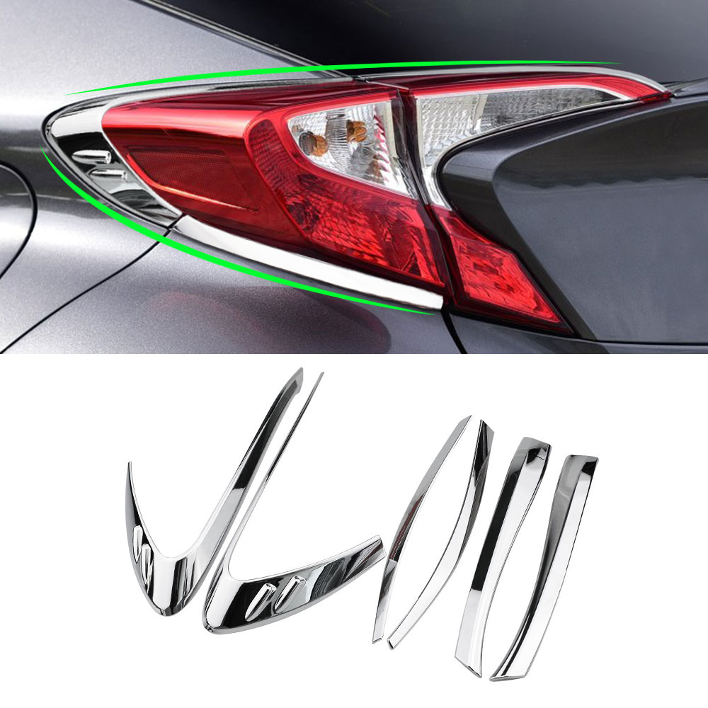 цена на Color My Life Car Accessories for Toyota CHR C-HR 2016 2017 2018 Rear Light Tail Headlight Lamp Protector Sticker Cover Trim
