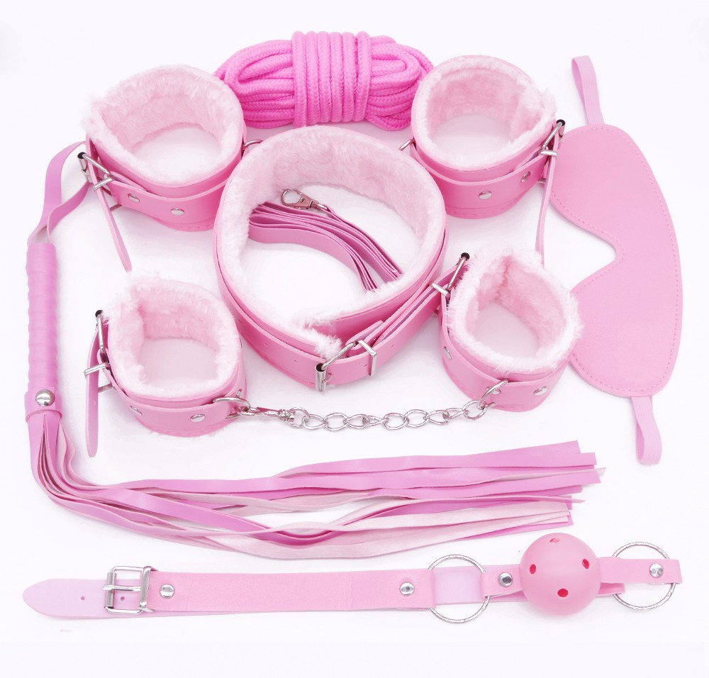 HTB1gLNPOVXXXXbJaFXXq6xXFXXXL Bondage Kit - Erotic Fetish BDSM 10-Pieces Bondage Sex Toy Set - 4 Colors