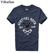 YIRUISEN, брендовая одежда, принт, короткий рукав, футболка для мужчин, хлопок, модный летний топ с круглым вырезом, футболки, мужские S-XXXL