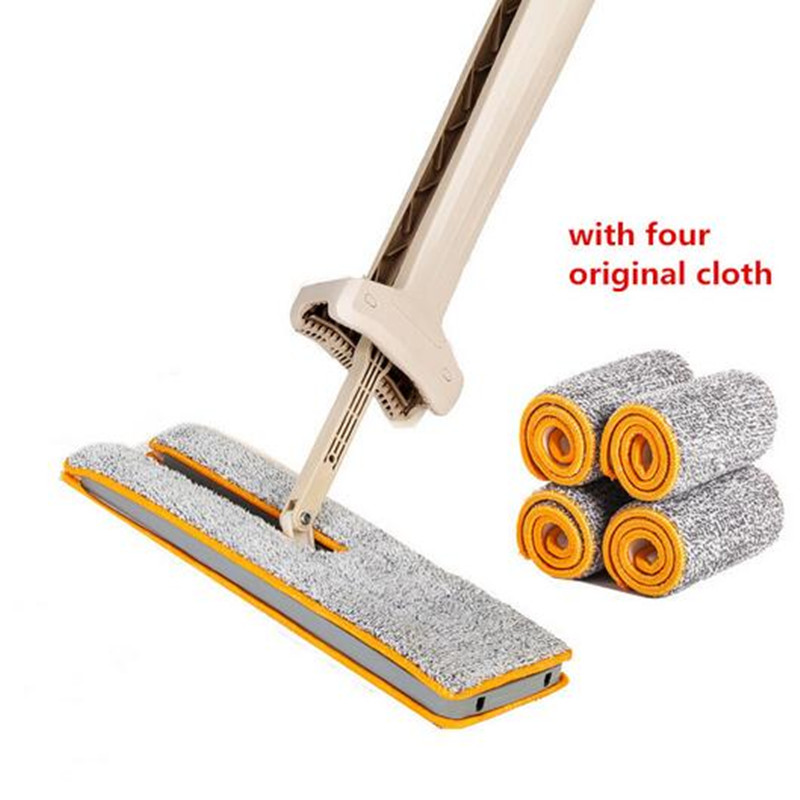 Double Side Hand Push Sweepers Telescopic Hard Floor Mop Cleaner Self-Wringing Ability Vacuum Cleaner Partner Household Cleaner drop shipping self wringing double sided flat mop telescopic comfortable handle mop floor cleaning tool for living room kitchen