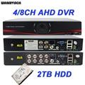 Cctv AHD híbrido DVR 4Ch 8CH HD 720 P 960 P 960 H D1 Video Recorder segurança vigilância DVR com 2 TB HDD Hard Disk