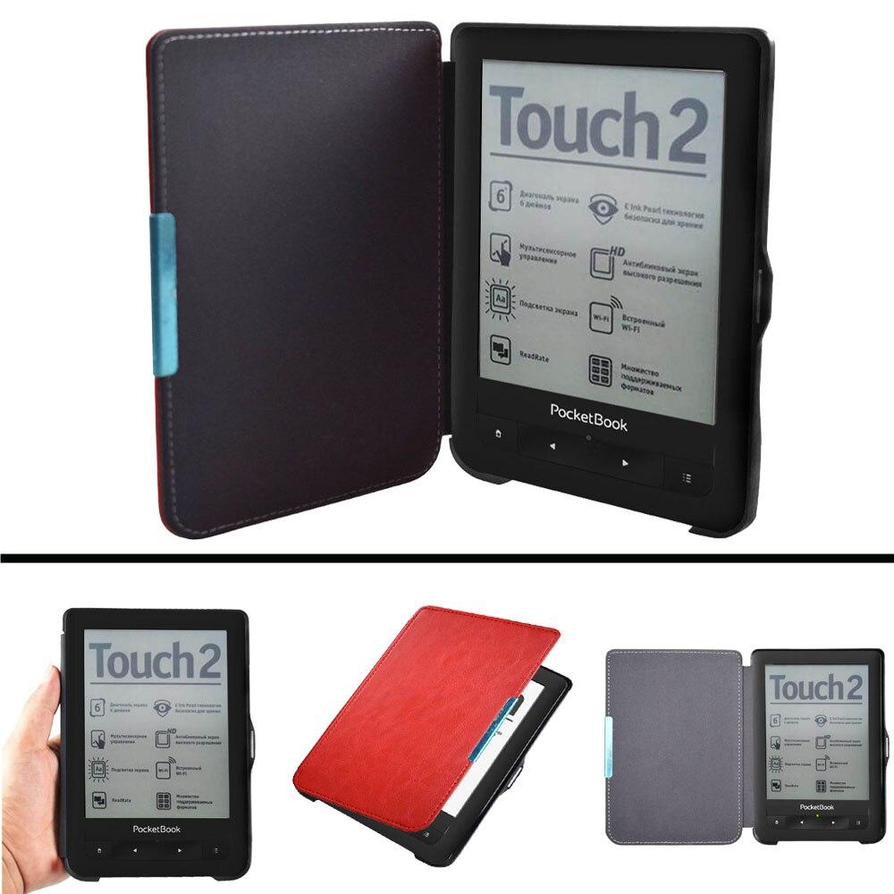 PB 622 623 Erweiterte pu leder Abdeckung Fall für Pocketbook 622 623 Touch 1 2 eReader Flip folio buch Abdeckung magnet closured Fall