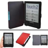 PB 622 623 Funda de cuero pu avanzada para Pocketbook 622 623 Touch 1 2 eReader Flip folio cubierta de libro imán closure Case