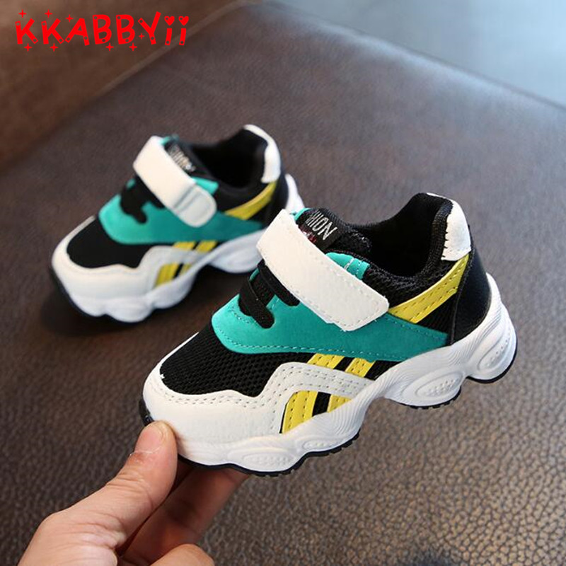 2018 Boys Shoes Kids Sneakers Childrens Flat Shoes Soft Running Sports Shoes Mesh Blue Cotton Fabric Casual Flats Hot Sale