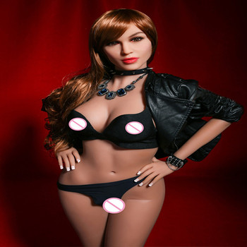 Yannova 68# 165CM Large breasts real silicone sex doll man realistic vaginal oral ass TPE and metal skeleton sexy beauty doll