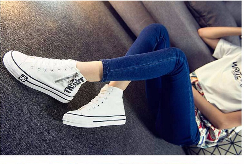 Free Shipping Spring and Autumn Men Canvas Shoes High Quality Fashion Casual Shoes Low Top Brand Single Shoes Thick Sole 7583 -  -  -  -  (2) -  -  -