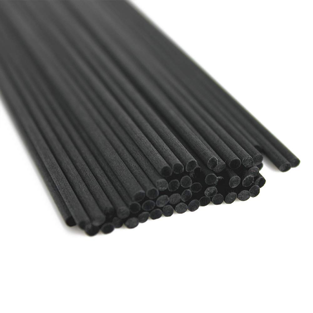 100PCS 22cmx3mm Fiber Black Rattan Sticks Replacement Refill Reed Diffuser Sticks For Home Decoration