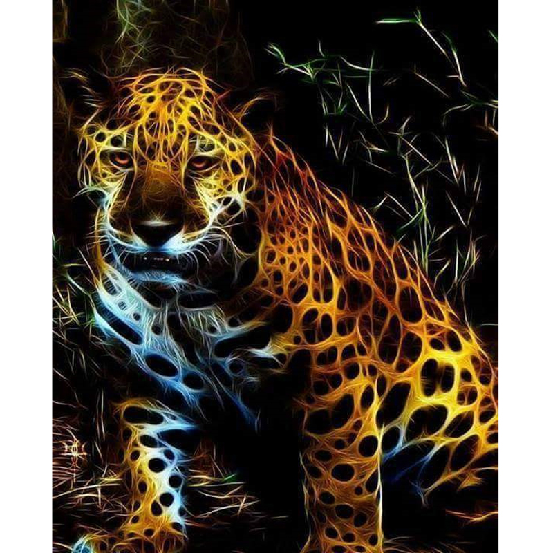 100% Full Square/Round 5D Diy Daimond Painting Cross-stitch Light Leopard 3D Diamond Painting Rhinestones Paintings Embroidery