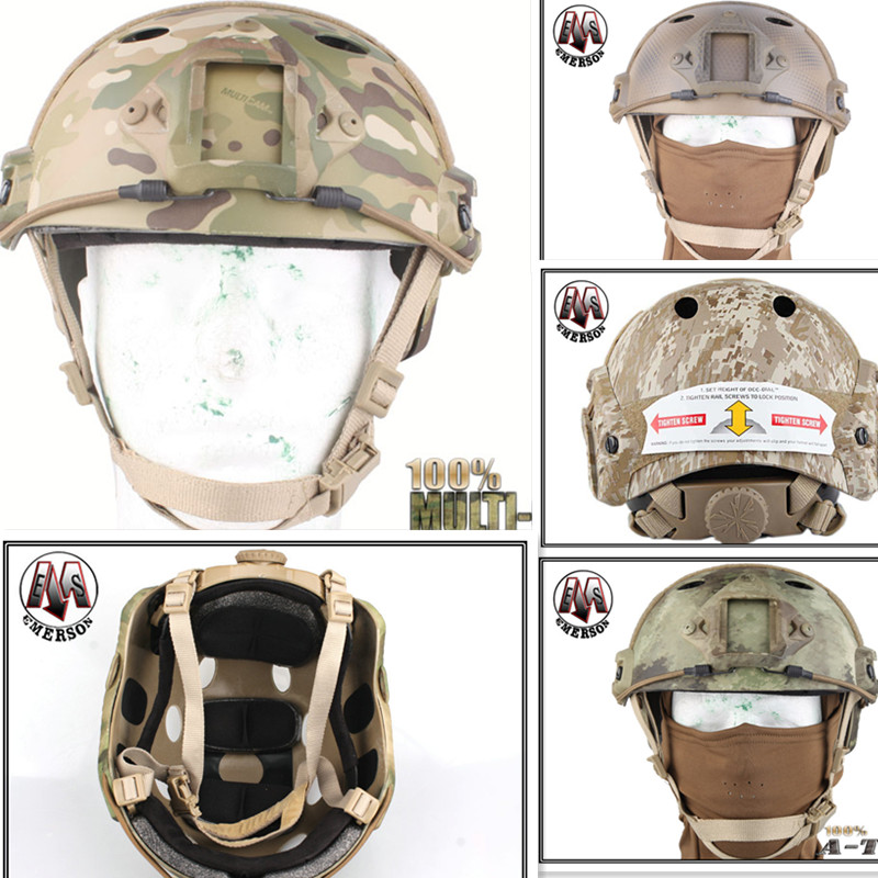 Tactical protective helmet Base Jump Helmet EMERSON FAST Helmet PJ TYPE Multicam DD ATFG Navy Seal Mandrake  EM5668Safety & Surv футболка toy machine jump ramp navy