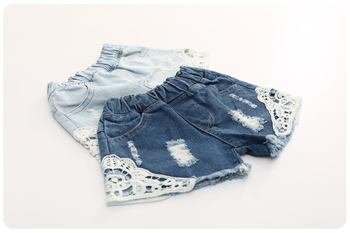 2018 summer baby girl shorts fashion girls lace Floral shorts jeans kids denim shorts Panties 2-12 Y baby wear 6