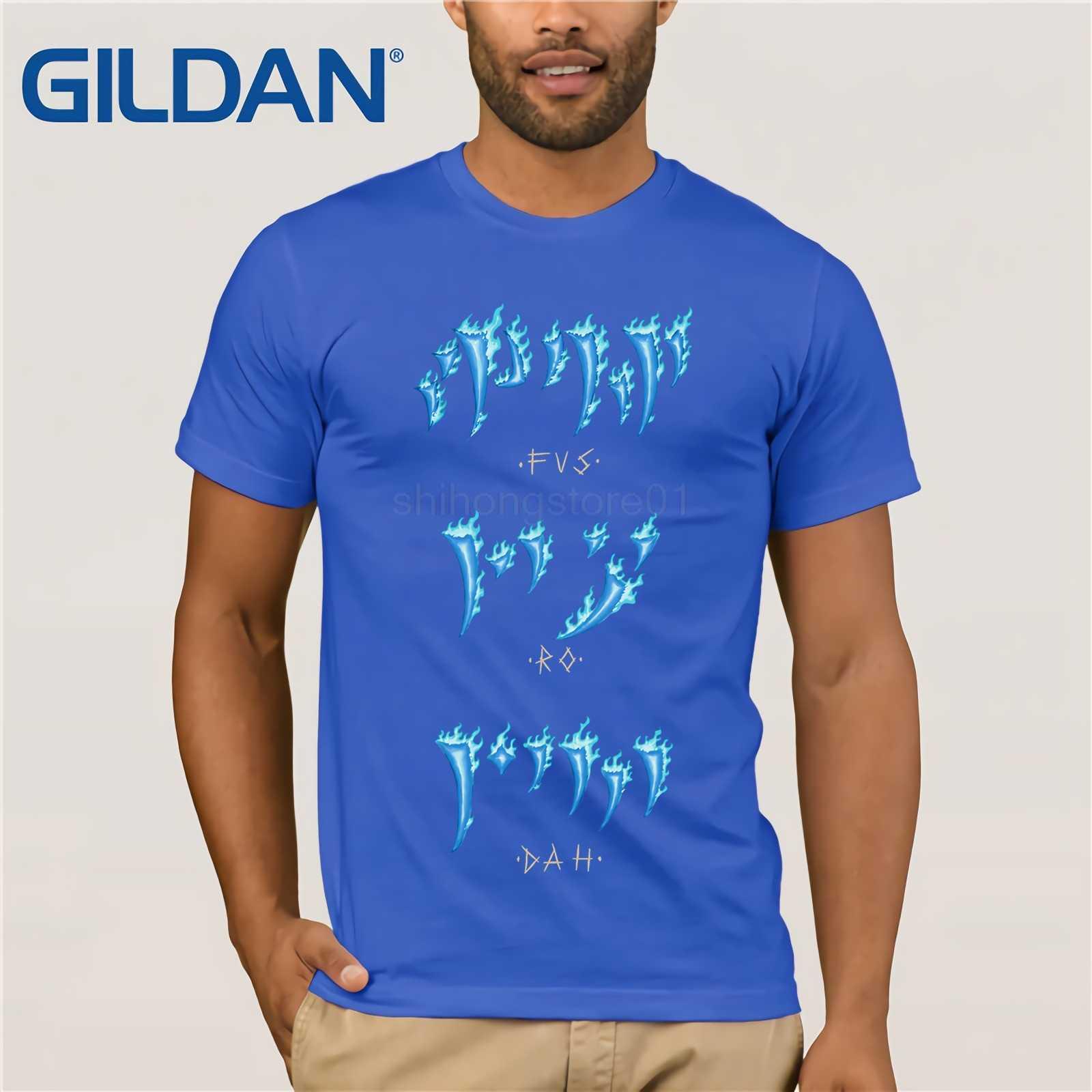 GILDAN The Elder Scrolls Skyrim Dark Brotherhood We Know Hand Fus Ro Dah  Shirt Novelty Male 100% Cotton Tees