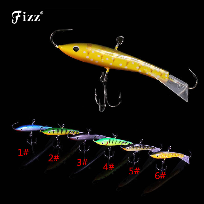 Dual Ends Single Hooks Balanced Fishing Lure Treble Hook Balancer Ice Fishing Jig Lure Winter Fishing Accessories 7.7cm 21.7g outdoor dual groove fishing hook sharpener hook file coarse fine grinding hone fishing diamond treble sharpening box tools