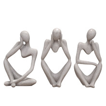 Modern Home Decoration Abstract Thinker Sculpture Resin Crafts Statue Creative Wedding Gift