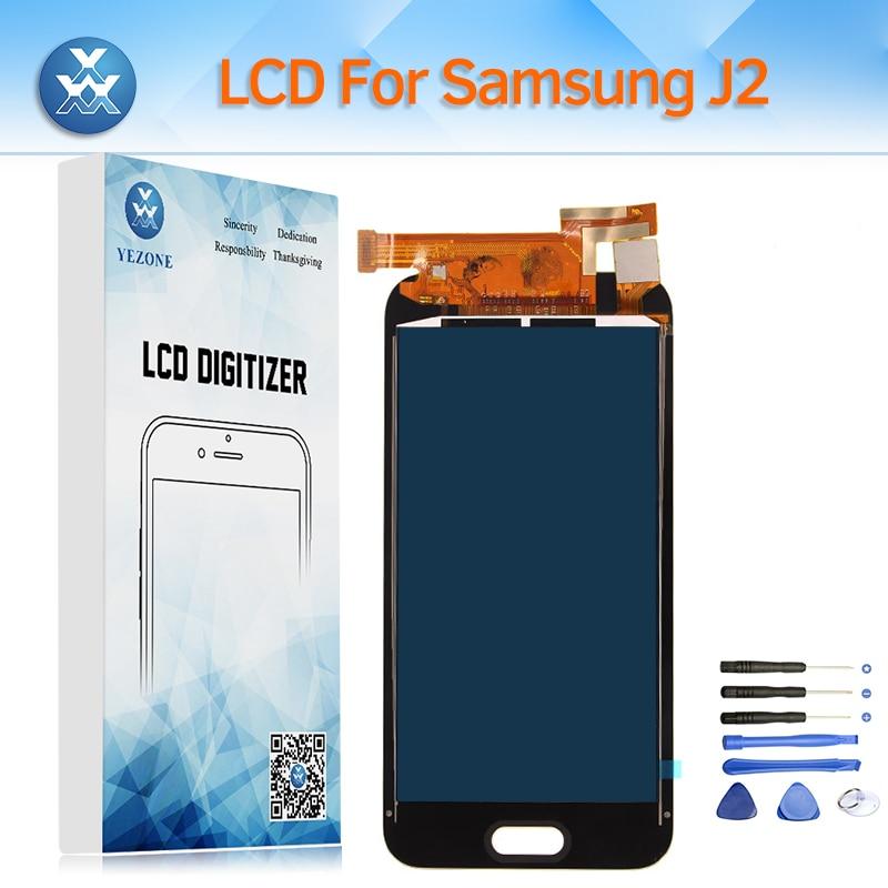 Écran lcd pour Samsung Galaxy J2 2015 J200 SM-J200F J200H J200Y LCD Écran Tactile Digitizer Assemblée Peut Régler La Luminosité + outil