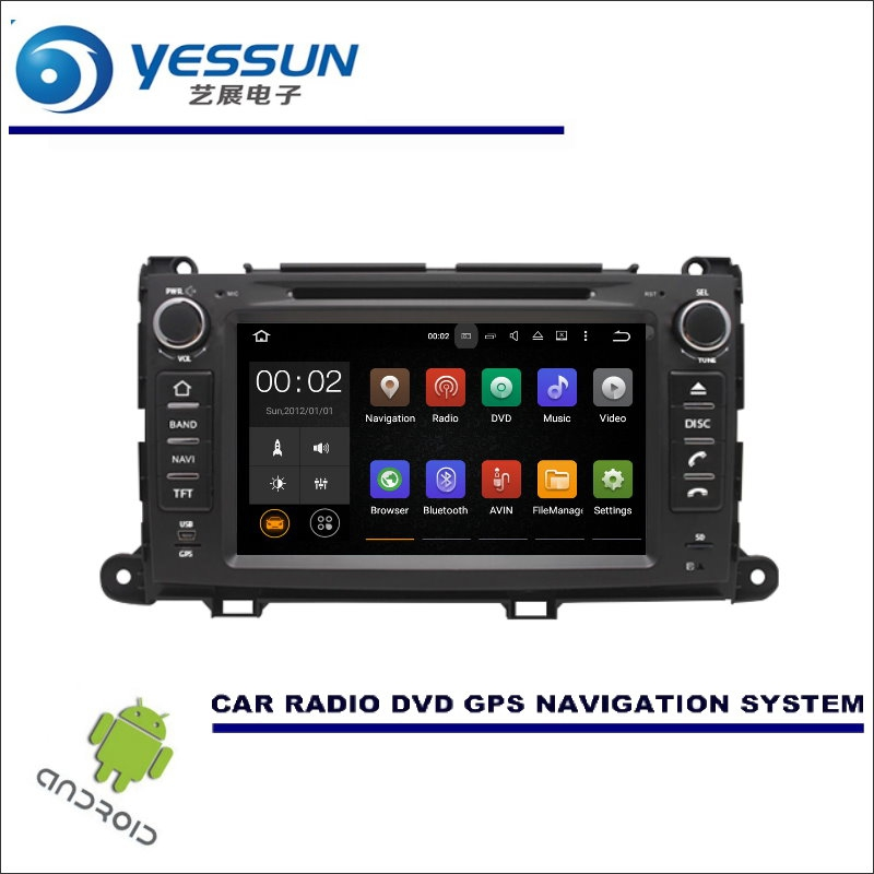 YESSUN For Toyota Sienna XL30 2011~2016 CD DVD GPS Player Navi Radio Stereo HD Screen Car Multimedia Navigation Wince / Android yessun car android navigation for opel astra j vauxhall holden gtc radio stereo cd dvd player gps navi screen multimedia