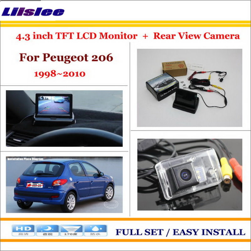 For <font><b>Peugeot</b></font> <font><b>206</b></font> 1998~2009 2010 Car Reverse Back up Rear Camera & 4.3