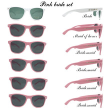 6 Pairs/lot Bride Bridesmaid Maid of honor Sunglasses perfect for Bridesmaid Gifts Bridal Party Favors and Bachelorette Party