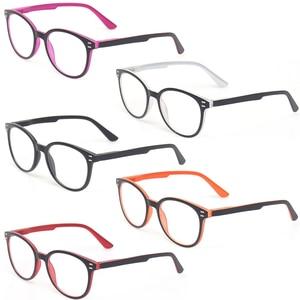 Image 1 - Henotin男性と女性のファッションカジュアル老眼鏡オーバルフレームバネ蝶番デザイン老眼鏡視度 0.5 1.75 3.0 4.0...