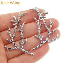 Julie Wang 3 шт. ветви Подвески сплав античное серебро ручной работы подвесные Топы Connetors Подвеска Аксессуары для изготовления ювелирных изделий