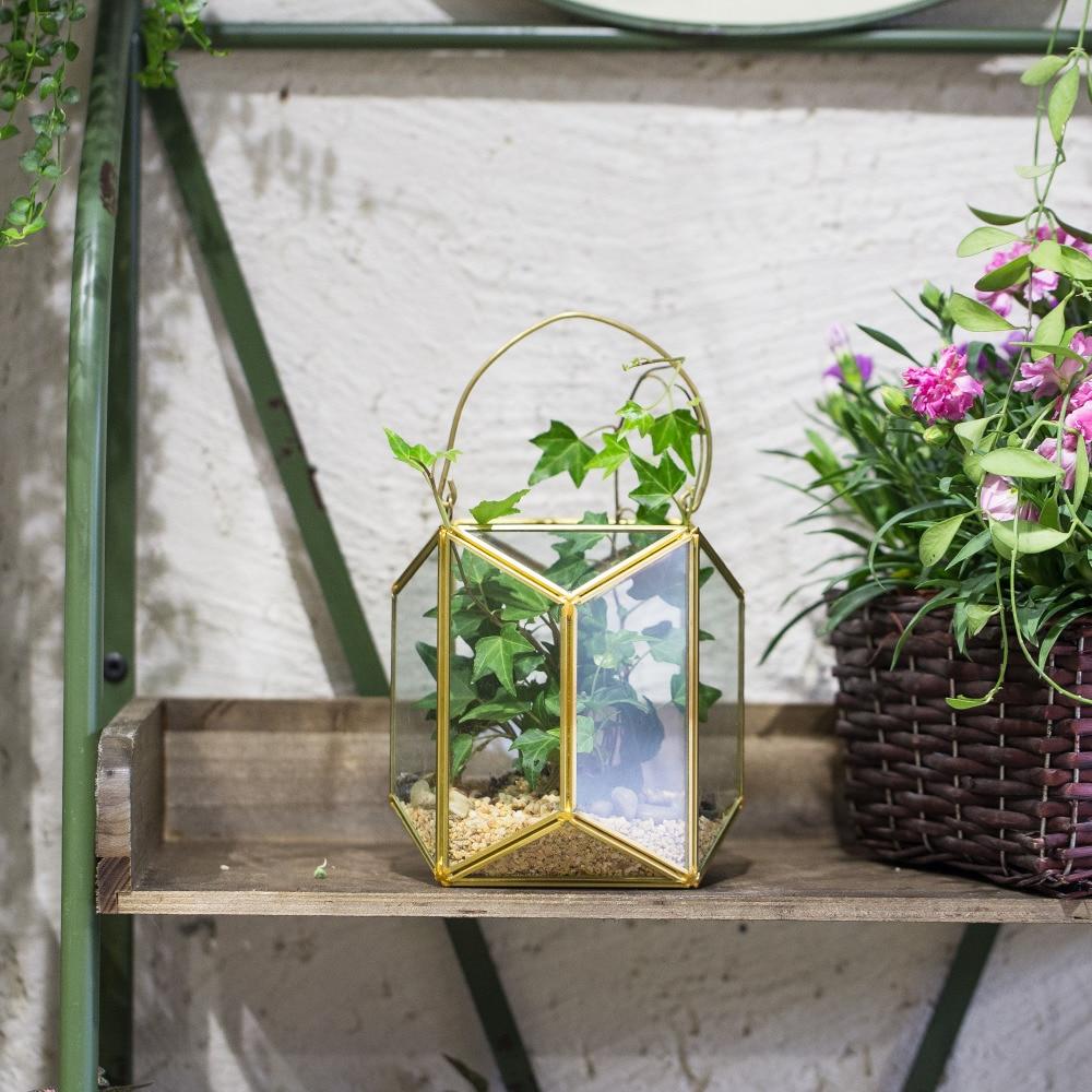 Ncyp pendurado vaso de flores de vidro