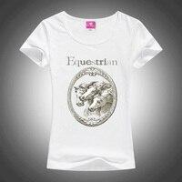Summer Fashion 2017 New Camisetas Mujer Short Sleeved T Shirt Women Horse Print T Shirts Female