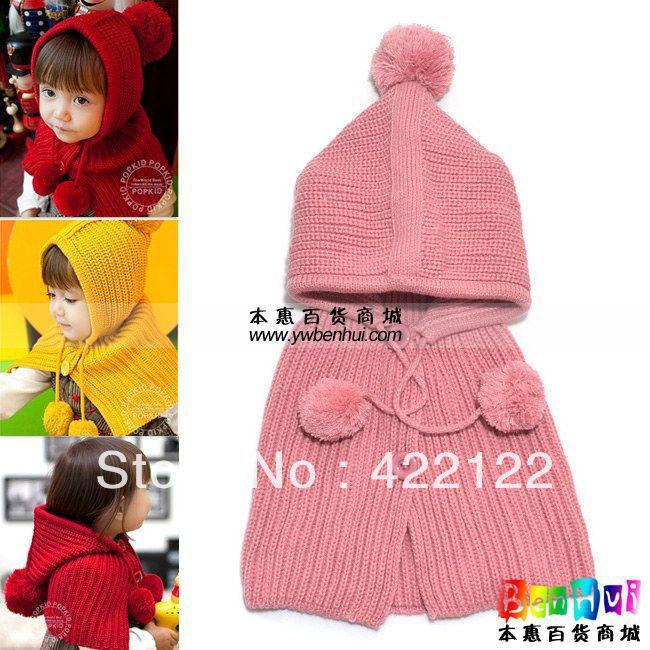 Winter Keep Warm Knitted Hats For Boy/girl/kits Hats,infants Caps Beanine Chilldren-Hang Buckle Ball Mz0603 2pcs