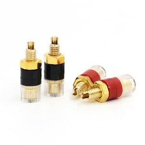 Image 2 - 12pcs Terminal Gold plating Binding Post for Speaker Amplifier Banana Plug