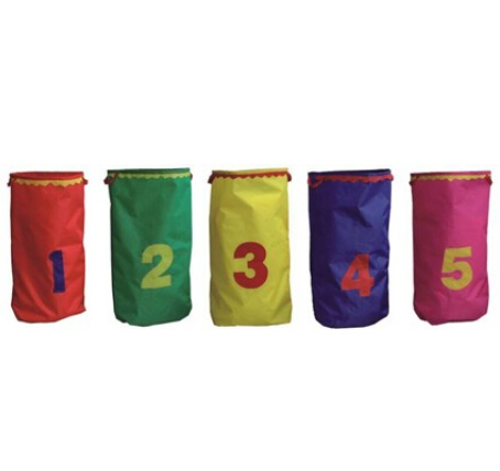 5 pièce/ensemble enfants sacs de saut kangourou jeu de saut intégration sensorielle formation couleurs assorties avec numéro cloche drôle jouet extérieur