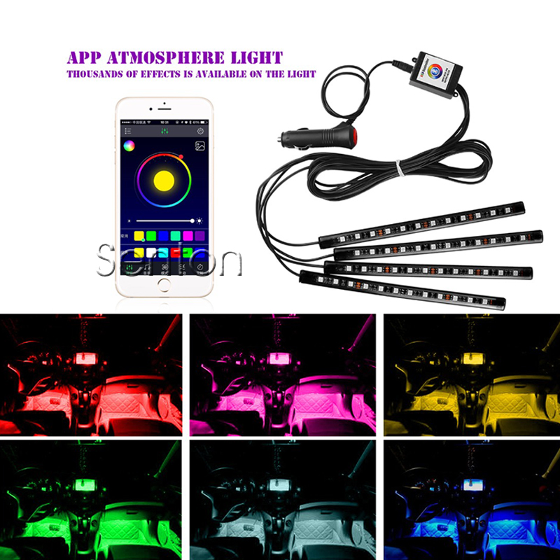 Car app control interior neon lamp for honda civic 2006 for Honda car app