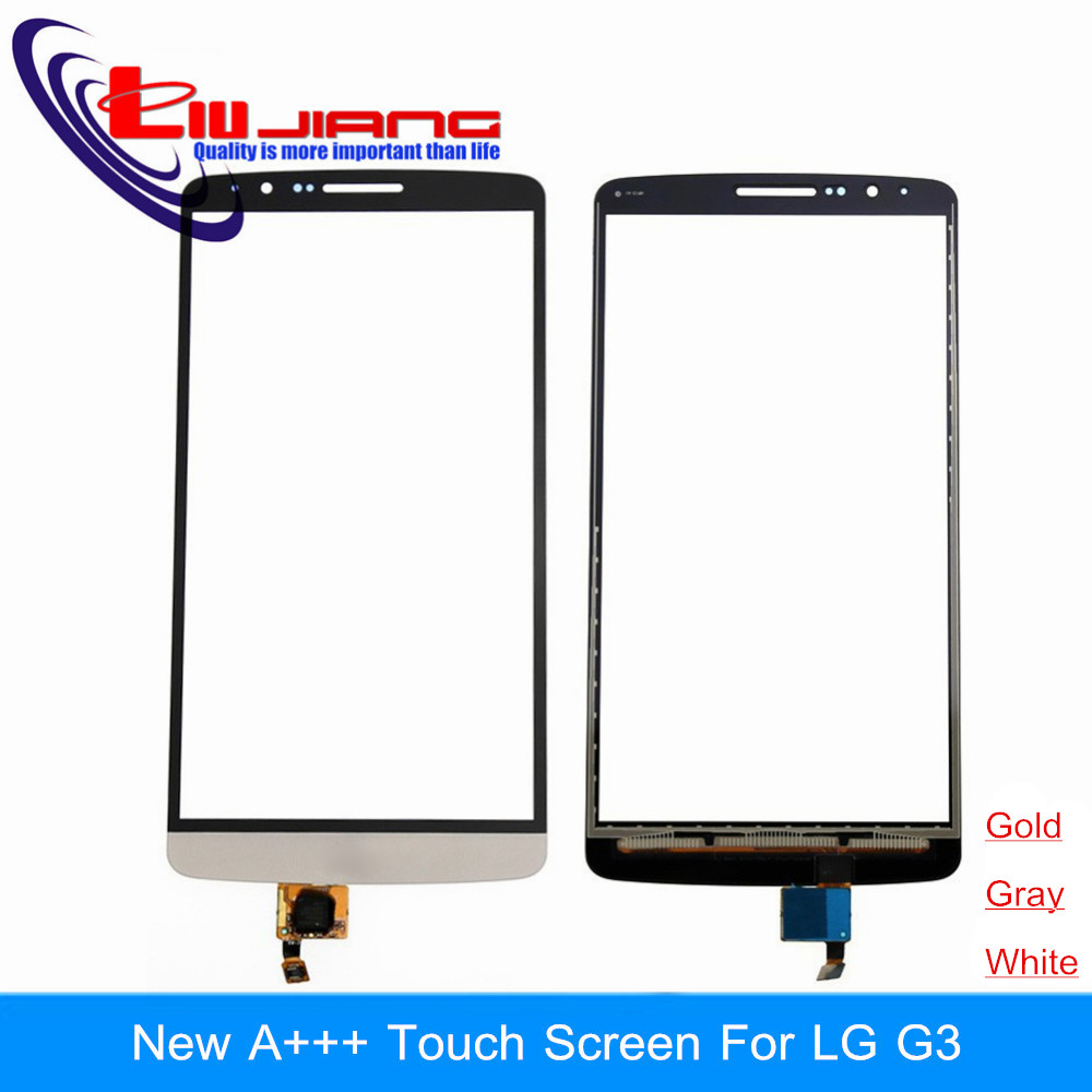Liujiang New A+ For LG G3 D850 d855 Touch Screen Digitizer Sensor Glass Lens Panel With LOGO