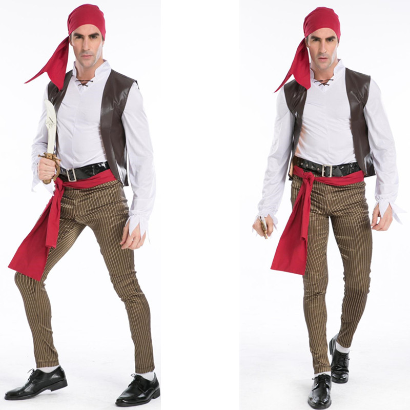 High Quality Menu0027s Halloween Costume Somali Pirates Costume Adult Halloween Cosplay Caribbean Pirates Costume -in Sexy Costumes from Novelty u0026 Special Use ...  sc 1 st  AliExpress.com & High Quality Menu0027s Halloween Costume Somali Pirates Costume Adult ...