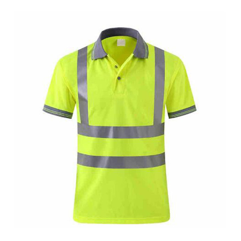Quick Dry Safety Clothing Night Work T-shirt Reflective Tops Workwear Dry Fit T Shirt Vest Breathable Work Safety Clothes