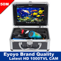 Free Shipping!Eyoyo Original 50M Professional Fish Finder Underwater Fishing Video Camera 1000TVL HD CAM 7 Color HD Monitor