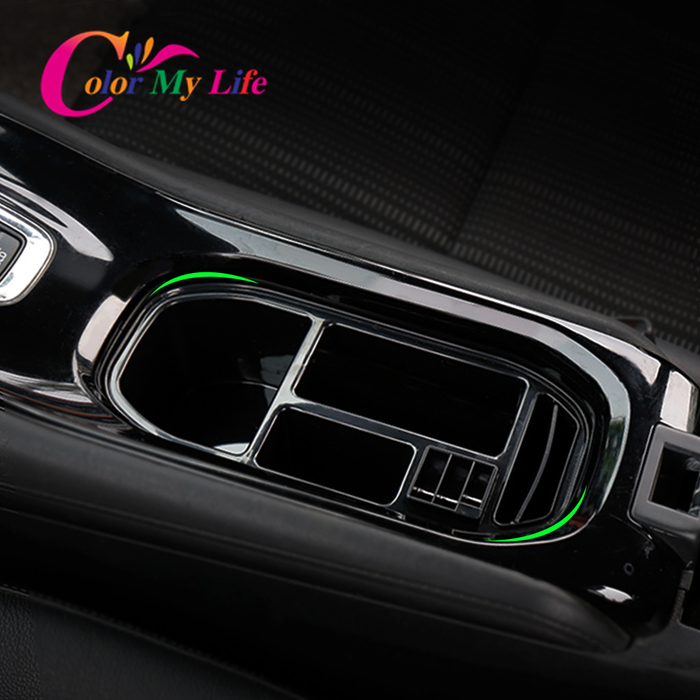 Lower Price with Car Trim Abs Lamp Center Console Middle Cup Gear Armrest Box Holder Frame Panel For Honda Hr-v Hrv Vezel 2014 2015 2016 2017 Automotive Interior Stickers Interior Accessories