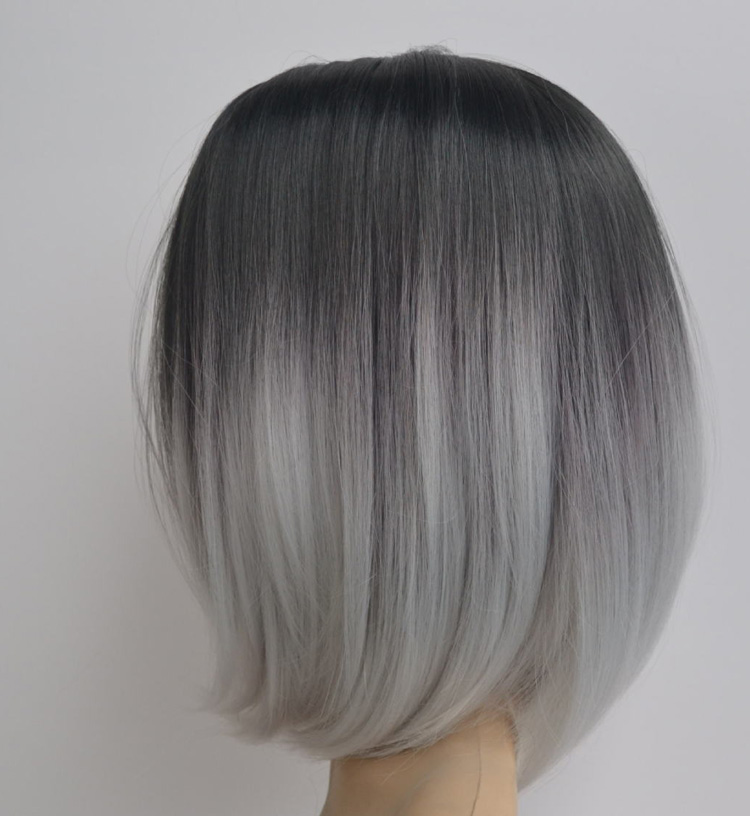 Black To Gray To White Ombre Hair Www Pixshark Com