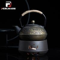 Vintage Coarse Pottery Teapot Trivets Alcohol Candle Heating Coffee Milk Warmer Tea Set Pot Holder Base Teaware Tea Makers Stove