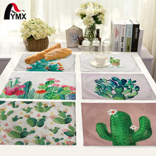 Tropical Plant Cactus Pattern Table Mat Napkin For Wedding Placemat Dining Accessories Kitchen Decoration