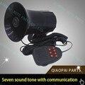 Coche sirena de alarma de la motocicleta 5 7 tonehorn 12 V 100 W alta potencia de la banda altavoz cuerno de alarma hablando Bomberos Ambulancia envío gratis