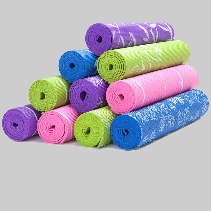 173*61*0.6cm Non-slip Sakura Flower& Snow flower Pattern Print PVC Yoga Mat Popular Pilates Exercise Yoga Mat accept OEM order