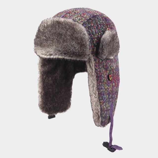 923101f1 Kenmont Winter Unisex Kids Boy Girl Warm Wool Earflap Aviator Russia  Trapper Bomber Hat Ski Cap 2339